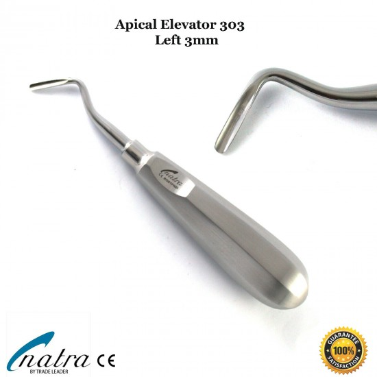3 Pcs Dental Root Elevators Oral Surgery PDL Luxating Apical Elevator