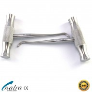 2 Pcs Dental Root Elevators WINTER 125 mm Oral Surgery Luxating Cryer Elevator