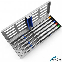 5 Pcs Osteotome Set Osteotomy Convex Sinus Implant Lift with Sterlization Tray CE NATRA Germany