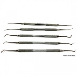 Sinus Lift Implant Lifter Curette 9 Pcs Set Gold Instrument Dental Raspatorien CE NATRA Germany