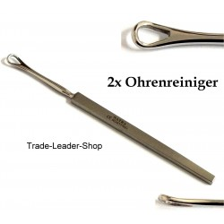 2 pcs Ear Cleaner Ear pick Curette Wax Remover Earpick Stainless Steel Germany