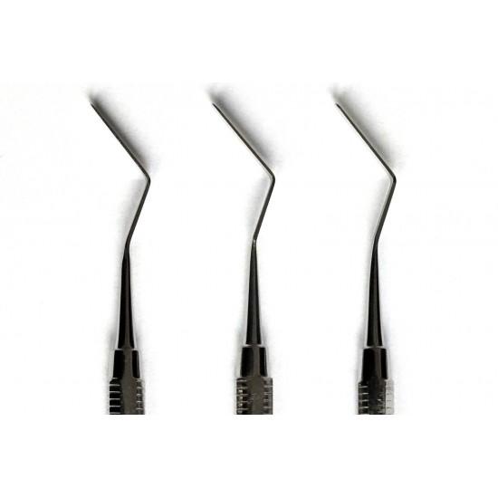 3x Set Heidemann Spatel Zhenspatel Dental tooth probe Modelingpate l Heidman