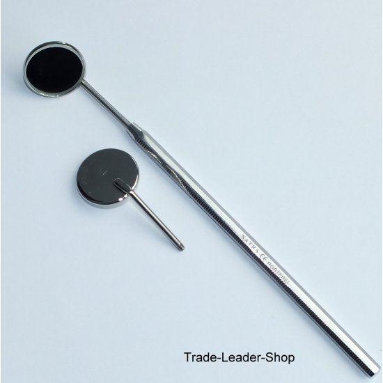 Dental Tooth Mirror Handle 1 Holder + 2 Mirrors No.4 Dentist mirror mouth NATRA