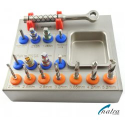 Dental Surgical Drills Kit / Drivers / Implants 16 PCS Surgical Instruments CE NATRA Germany