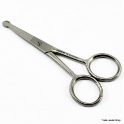 Nose Ear Mustache Hair Remover Scissors straight Rounded tip 3,5'' NATRA Germany