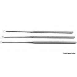 Billeau ear loop curette ENT 16 cm Surgical Otology surgery 3 sizes 1/S 2/M 3/L