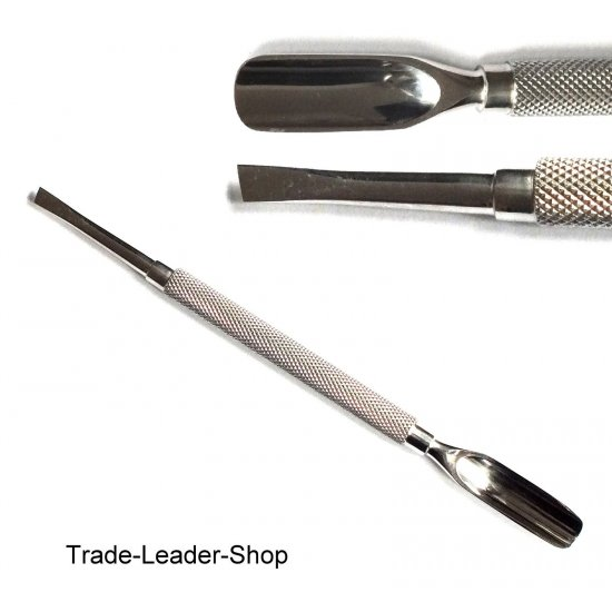Manicure Tool Hollow Reamer Cuticle Nail Spatula NATRA Stainless Steel