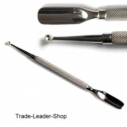 TradeLeader Cuticle Pusher NATRA Stainl. Steel Scoopula Pedicure Manicure New