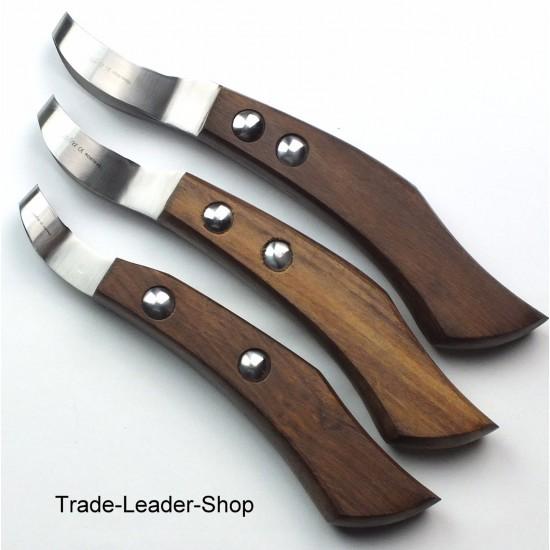 1 loop Hoof Knife Wooden handle Horse Claws Knives Equine Veterinary NATRA