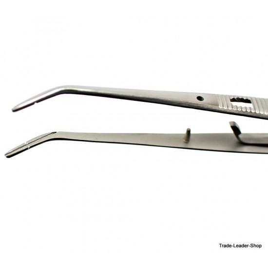 College Tweezer with lock 15 cm notched Tweezers Dental Surgery Surgical