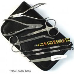 Gift Set Manicure Pedicure Nail Care + Case scissor Nail Nipper Cutter Tweezers