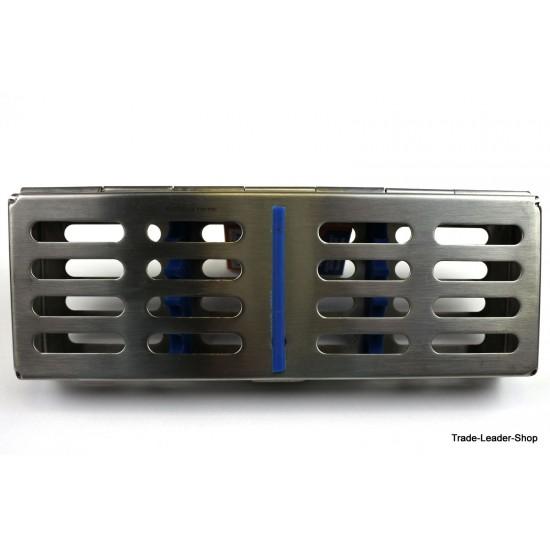 Composite Set 5 Pcs BLUE Dental Filling Instrument with Sterlization Tray Probe Spatula Plugger CE NATRA Germany